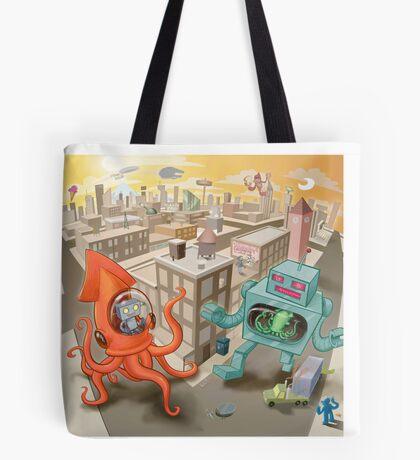 Robot vs. Squid Tote Bag