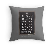 Westerosi Math 101 Throw Pillow