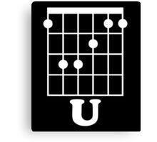 Fun Guitar, Say F*ck You With Guitar Chord Canvas Print