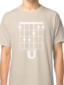 Fun Guitar, Say F*ck You With Guitar Chord Classic T-Shirt