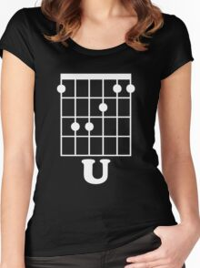 Fun Guitar, Say F*ck You With Guitar Chord Women's Fitted Scoop T-Shirt