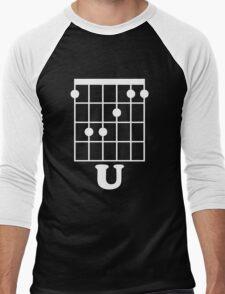 Fun Guitar, Say F*ck You With Guitar Chord Men's Baseball ¾ T-Shirt