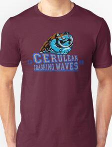 Cerulean Crashing Waves  T-Shirt