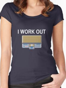 I work out Women's Fitted Scoop T-Shirt