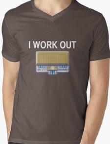 I work out Mens V-Neck T-Shirt