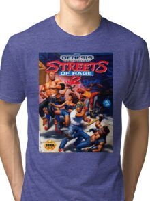 Street Of Rage II - Sega Cartridge Tri-blend T-Shirt