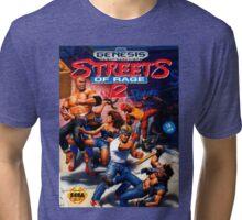 Street Of Rage II - Sega Cartridge Tri-blend T-Shirt