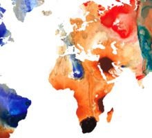 Map of The World 8 -Colorful Abstract Art Sticker