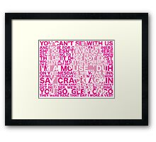 Mean Quotes Framed Print