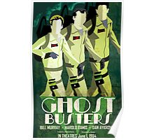 Deco Ghostbusters Poster