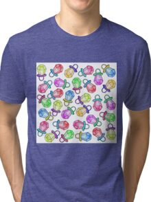 Retro 80's 90's Neon Colorful Ring Candy Pop Tri-blend T-Shirt