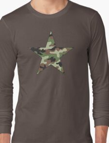 Camouflage Military Star Long Sleeve T-Shirt