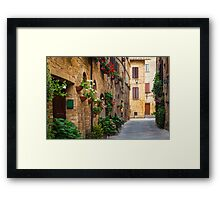 Pienza Street Framed Print