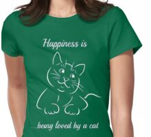 HAPPINESS A C-A-T Womens Fitted T-Shirt