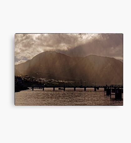 Misty Morning on Dominica Canvas Print