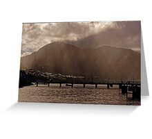 Misty Morning on Dominica Greeting Card