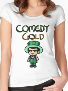 Comedy Gold Women's Fitted Scoop T-Shirt