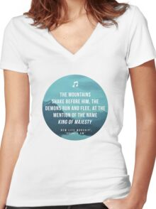 King of Majesty Women's Fitted V-Neck T-Shirt