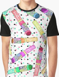 Retro 80's 90's Neon Colorful Push Candy Pop Graphic T-Shirt