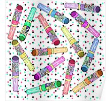 Retro 80's 90's Neon Colorful Push Candy Pop Poster