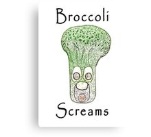 Broccoli Screams Canvas Print