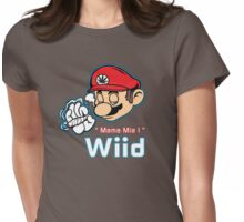 Mario - Mamma Mia Variant Red Womens Fitted T-Shirt