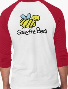 Save the Bees Men's Baseball ¾ T-Shirt
