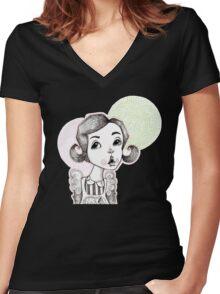Soda Shop Bop Women's Fitted V-Neck T-Shirt