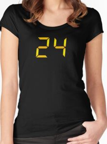 24 Logo Women's Fitted Scoop T-Shirt