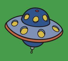 Cartoon UFO Flying Saucer One Piece - Short Sleeve