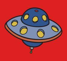 Cartoon UFO Flying Saucer Baby Tee