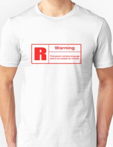 Rated R: Language Warning T-Shirt