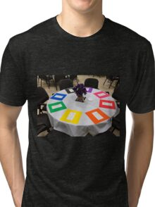 Teacher Appreciation Display With Rainbows Tri-blend T-Shirt
