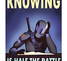 "G.I. Joe - Snake Eyes ""KNOWING IS HALF THE BATTLE"" by artbyabc"