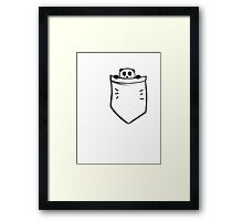 Peeking Pocket Panda Framed Print