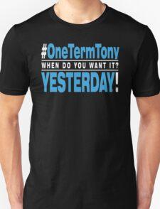 One Term Tony - Black T Shirt - Blue T-Shirt