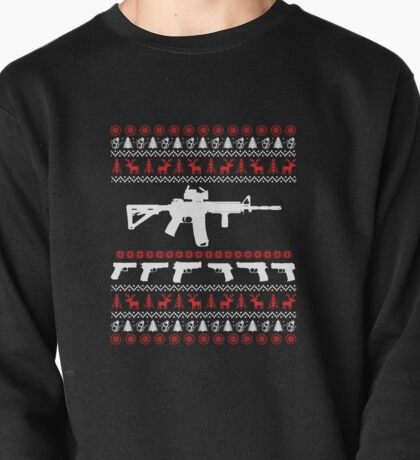 AR 15 Ugly Christmas Sweater Pullover