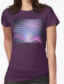Lavender Petal Womens Fitted T-Shirt