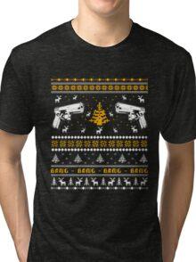 Glock Ugly Christmas Sweater Tri-blend T-Shirt
