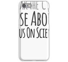 Rick and Morty: Focus on Science (Black) iPhone Case/Skin