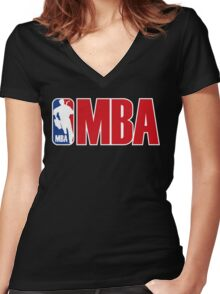 mba Women's Fitted V-Neck T-Shirt