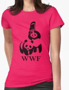wwf panda wrestling Womens Fitted T-Shirt