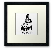 wwf panda wrestling Framed Print