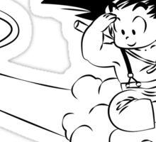 Kid Goku on Nimbus Sticker