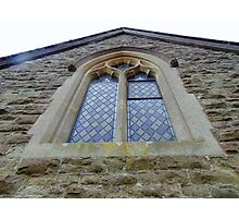 Tall windows at Knowsbury Church Photographic Print