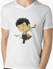 Castiel, Angel of the Lord, and his GAY PRIDE ties Mens V-Neck T-Shirt