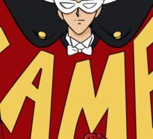 Retro Tuxedo Kamen Logo Sticker