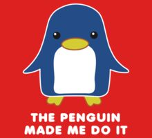 The Penguin Made Me Do It Kids Clothes