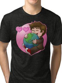 Doctor Who: I HEART HEART EARTH Tri-blend T-Shirt