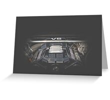 V6 Engine Greeting Card
